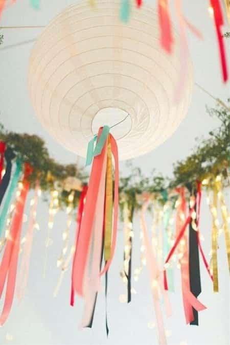 lanterne pas cher décorée pour fete dehors
