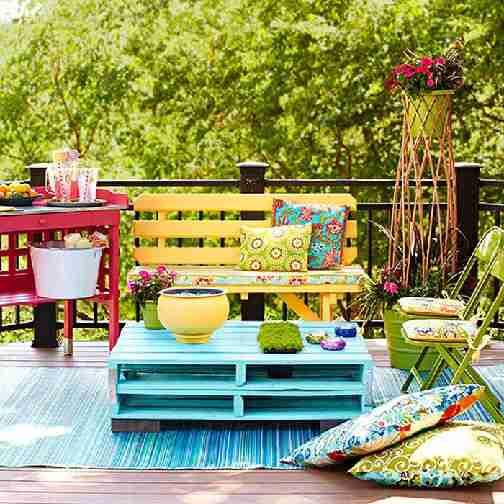 recycler palettes pour fabriquer meubles de jardin