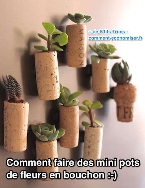 comment faire des mini pots de fleurs en bouchons de bouteille. Black Bedroom Furniture Sets. Home Design Ideas