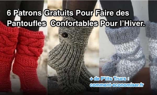 6d68448cf9a modèles gratuits pour faire des chaussettes et chaussons en laine au tricot  et crochet