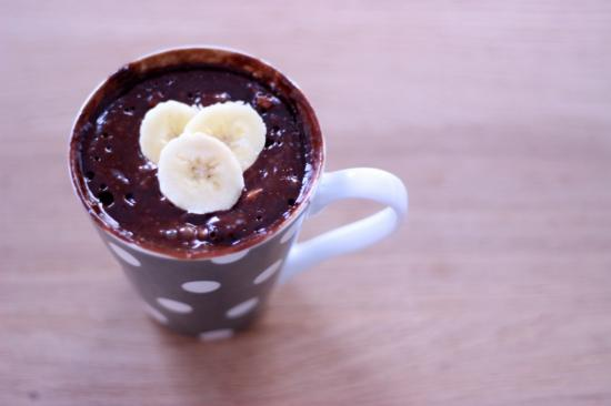 recette de mucake au chocolat et à la banane