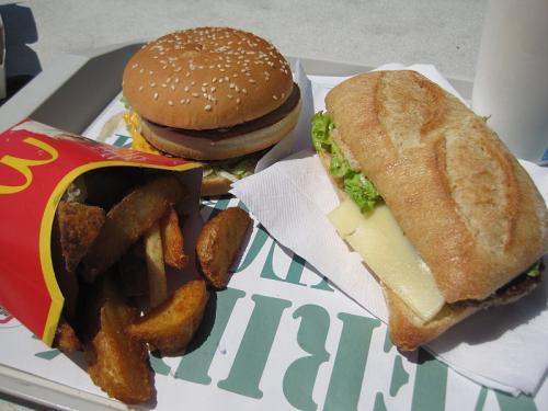 évitez les fast foods