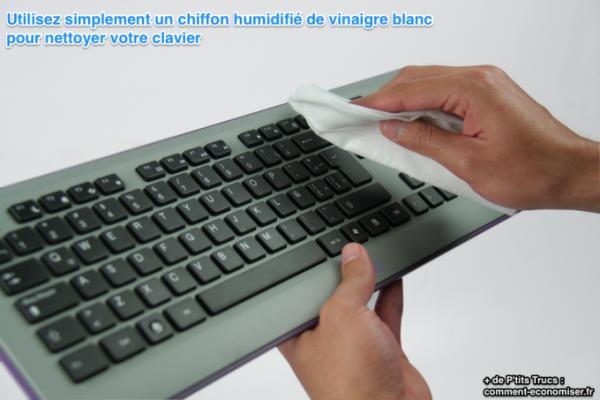 nettoyer clavier chiffon