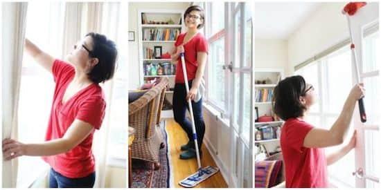 comment nettoyer toute votre maison en 1 heure chrono. Black Bedroom Furniture Sets. Home Design Ideas