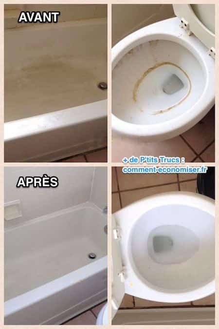 cristaux de soude pour récurer salle de bain