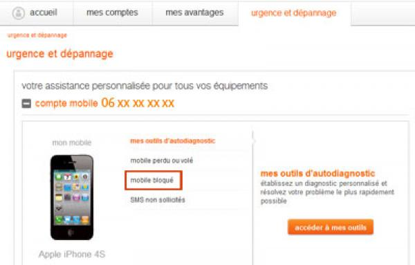 comment localiser mon telephone orange