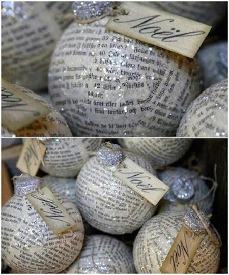 Fabriquez des ornements en papier-mâché pour accrocher à l'arbre