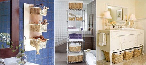 12 super idées de rangement pour mieux organiser votre salle de bain. - Rangement Pratique Salle De Bain