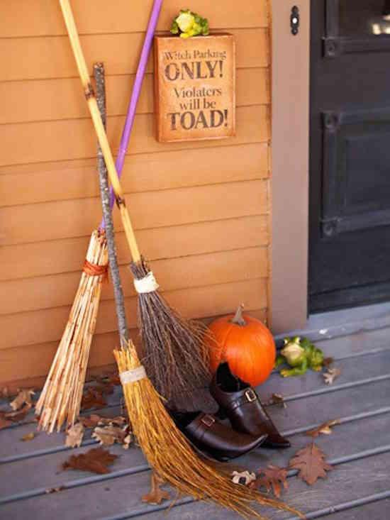 Faites un parking pour sorcières halloween