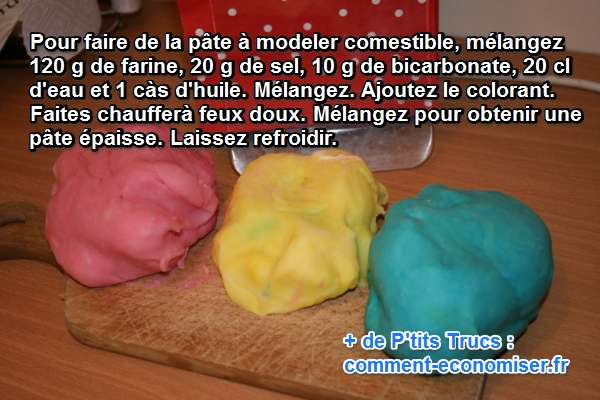 Comment faire de la p te modeler mangeable - Creation a faire a la maison ...
