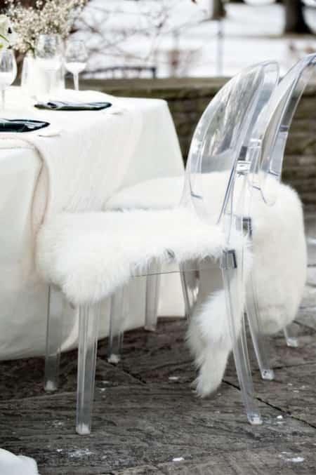 décoration pour mariage hiver peau mouton ikéa
