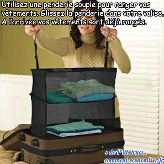 l 39 astuce pour garder ses affaires bien pli es dans la valise. Black Bedroom Furniture Sets. Home Design Ideas