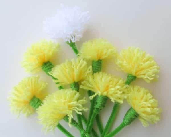 fabriquer des fleurs en laine
