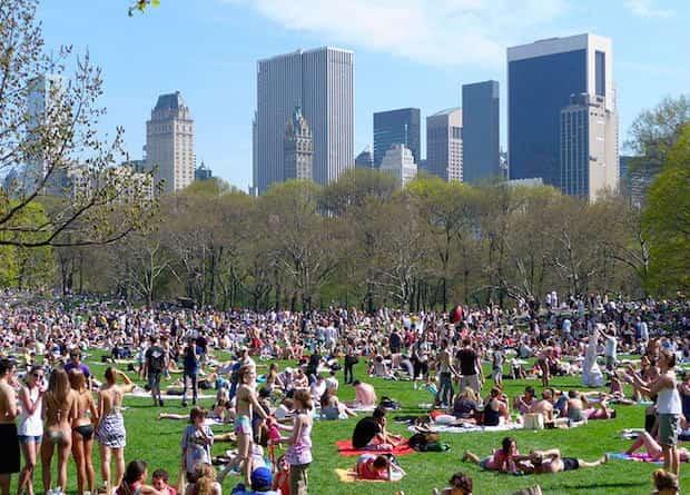 Plein de monde à central park NYC