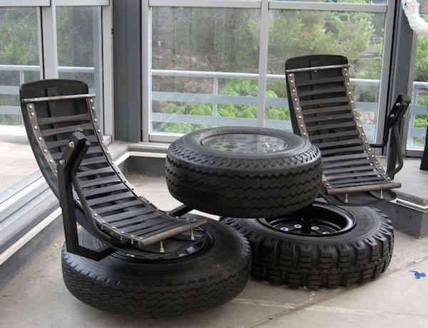 36 fa ons ing nieuses de r utiliser les vieux pneus. Black Bedroom Furniture Sets. Home Design Ideas