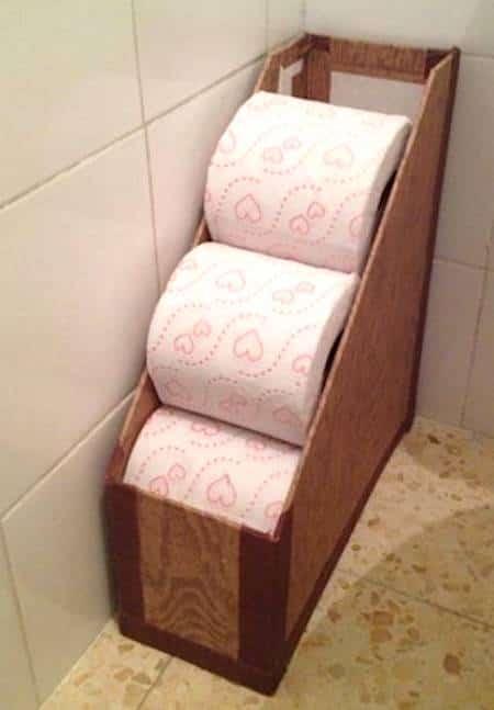 ranger rouleaux papier toilettes pratique et joli