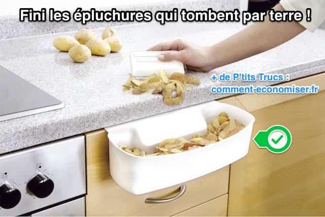 La coupelle de collecte pour déchets de cuisine