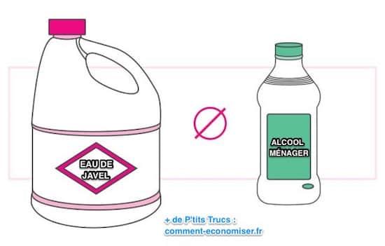 Saviez-vous que mélanger de la javel et de l'alcool ménager est dangereux ?