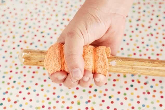 protéger manche outils avec éponge