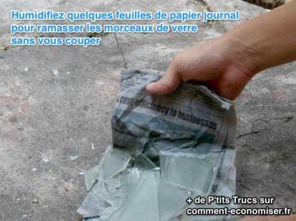 L 39 astuce pour jeter des d bris de verre la poubelle en toute s curit - Comment couper un morceau de video ...