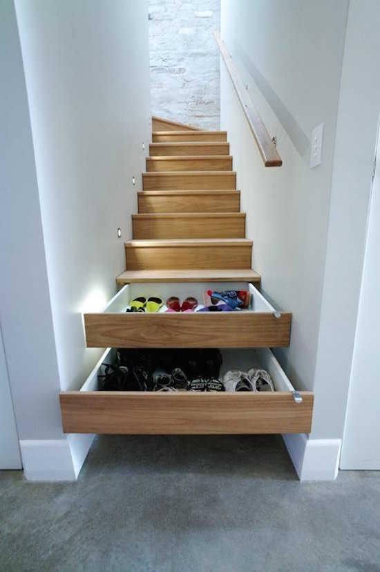 Saviez-vous que les marches d'escalier sont parfaites pour dissimuler des tiroirs ?
