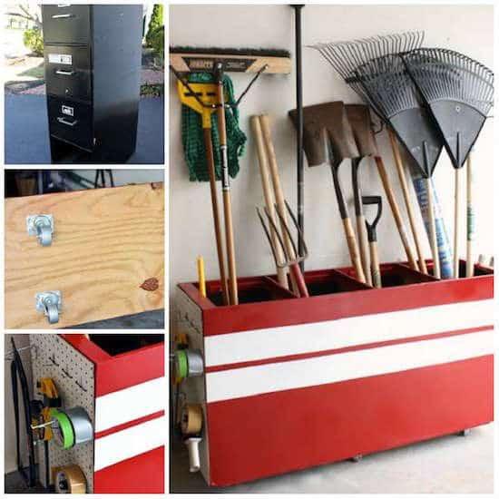 14 super id es de rangement pour le garage. Black Bedroom Furniture Sets. Home Design Ideas