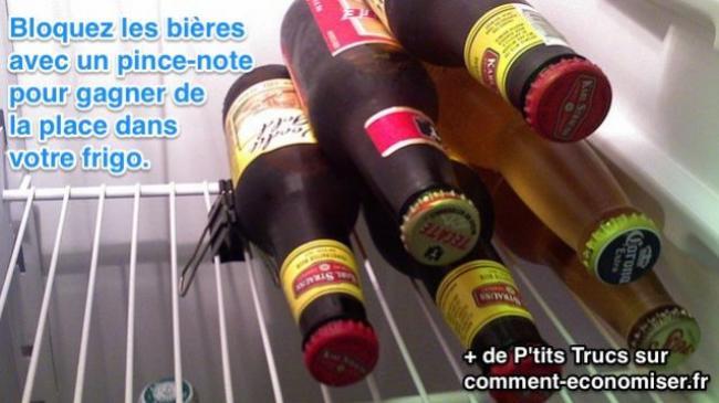 comment bien ranger les bières au frigo pour qu'elles ne roulent pas
