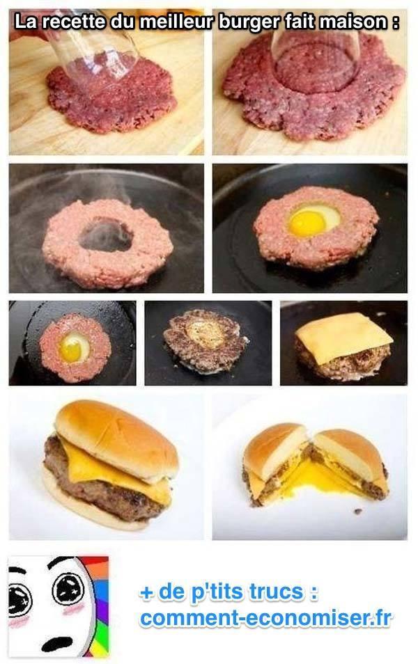 l 39 astuce pour faire un burger maison d licieux. Black Bedroom Furniture Sets. Home Design Ideas