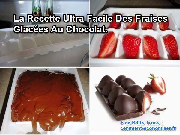 comment faire des fraises glac es au chocolat. Black Bedroom Furniture Sets. Home Design Ideas