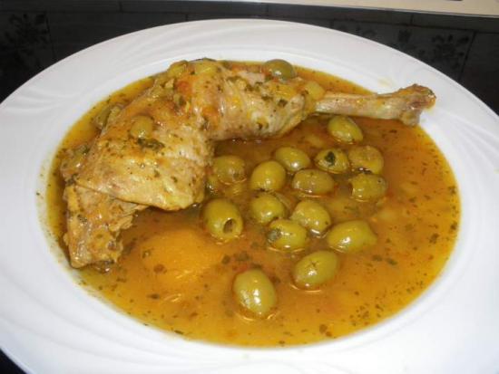 recette light pas chere poulet aux olives
