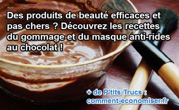 produits de beauté faits maison pas chers et efficace à base de chocolat