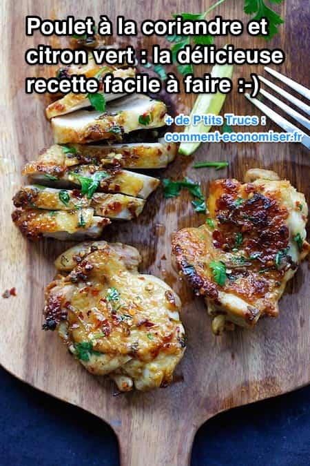 recette facile de poulet à la coriandre et au citron vert