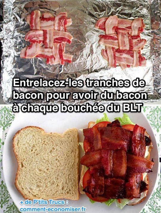 L'astuce pour avoir du bacon à chaque bouchée