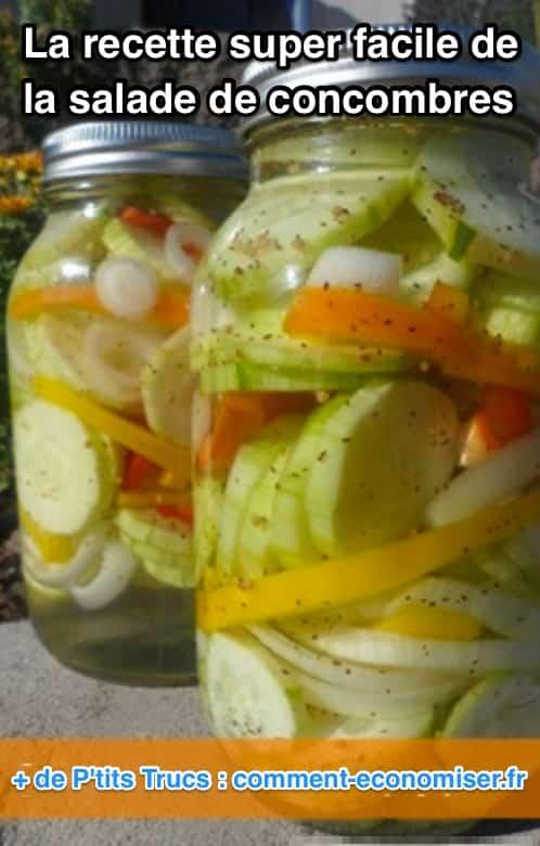 Ultra facile faire la d licieuse recette de la salade de concombres - Comment conserver la salade ...