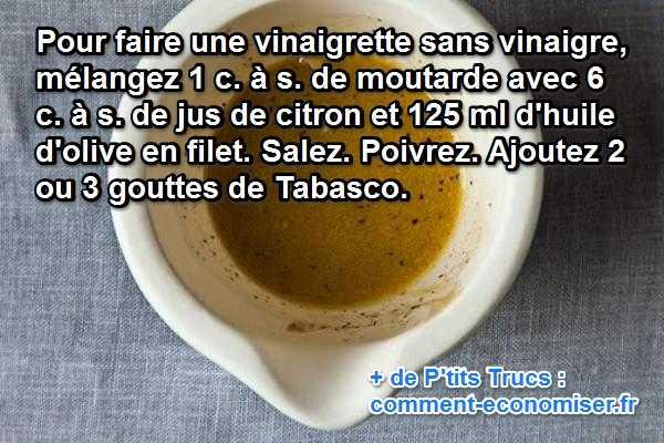la recette super simple de la vinaigrette au citron et sans vinaigre