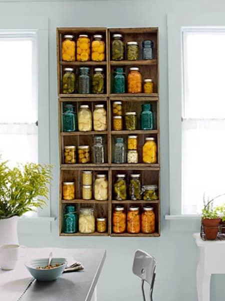 conserves de légumes en bocaux