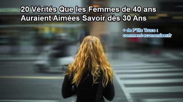 Conseils utiles pour les femmes qui ont 30 ans