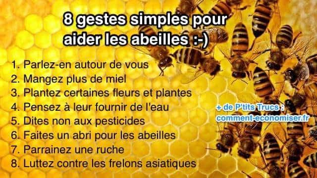 8 gestes simples pour aider les abeilles. Black Bedroom Furniture Sets. Home Design Ideas