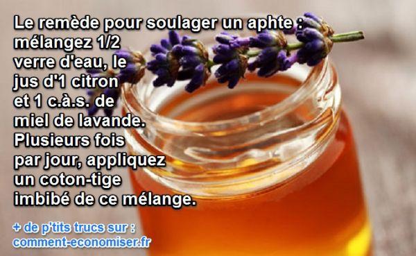 2 Remèdes Naturels Pour Soulager les Aphtes.
