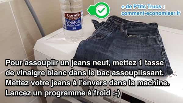 Comment assouplir un jeans neuf facilement utilisez du vinaigre blanc - Nettoyer un tapis avec du vinaigre blanc ...