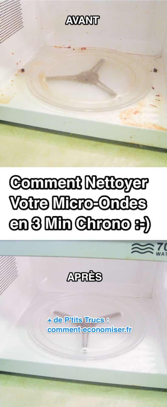 Utilisez de l'eau vinaigrée pour nettoyer votre micro-ondes en profondeur.