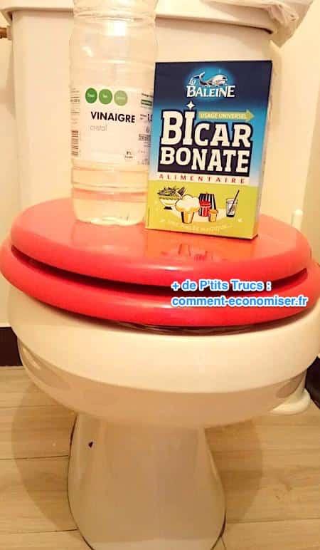 bicarbonate de soude vinaigre blanc pour enlever tartre wc