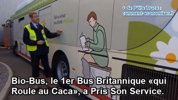 un bus qui roule au carburant bio composé de caca