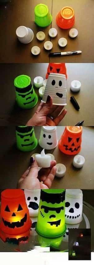 des lumières d'halloween