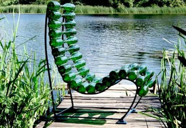 bouteilles chaise longue