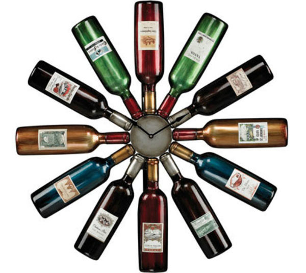 bouteilles horloge