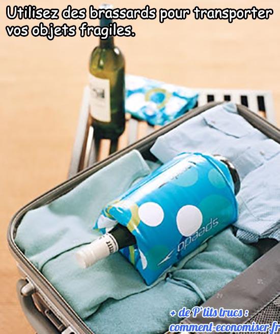 utilisez des brassard pour transporter vos objets fragiles