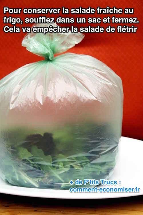 Comment conserver une salade fraîche