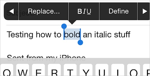 Mettre du gras sur une phrase sur iPhone