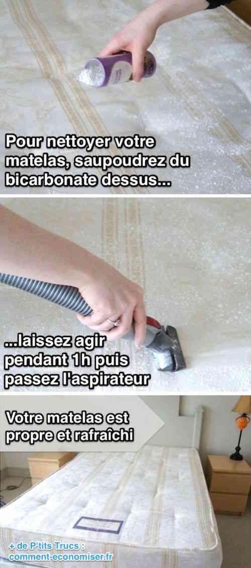 Saupoudrez du bicarbonate sur le matelas pour le nettoyer
